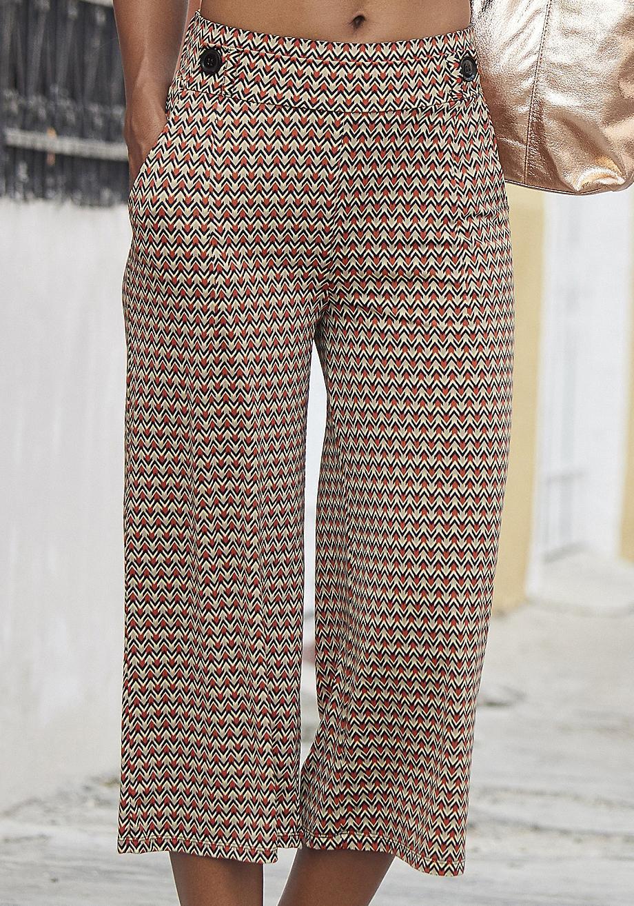pretty nice 7c62d 4ebc3 Buffalo Culotte Damen sand-rostrot-bedruckt im Online Shop von SportScheck  kaufen