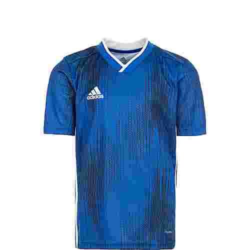 adidas Tiro 19 Fußballtrikot Kinder blau / weiß