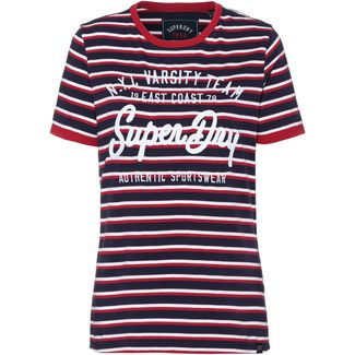 Superdry T-Shirt Damen rinse navy-true red-optic