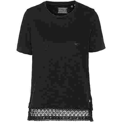 Superdry T-Shirt Damen jet black