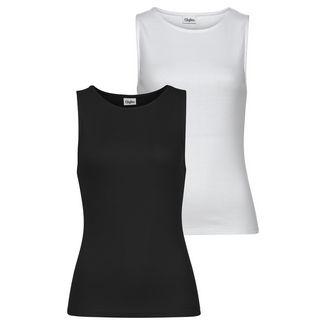 Buffalo Shirt Doppelpack Damen weiß+schwarz