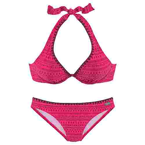 Buffalo Bikini Set Damen pink-bedruckt