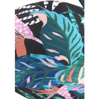 VENICE BEACH Bikini Oberteil Damen schwarz-bedruckt