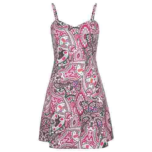Lascana Trägerkleid Damen pink-bedruckt