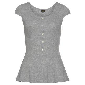 Lascana T-Shirt Damen grau-meliert