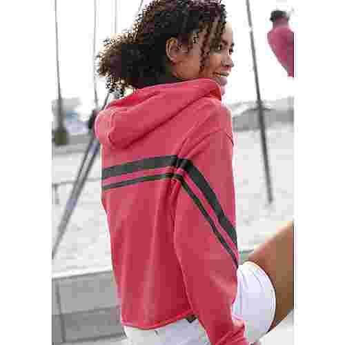 Bench Sweatshirt Damen pink-schwarz