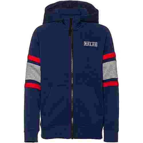 Nike Air Sweatjacke Kinder blue-void-dk-grey-heather-university-red-white