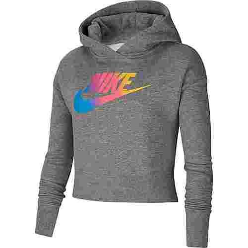 Nike FF Hoodie Kinder carbon-heather-white