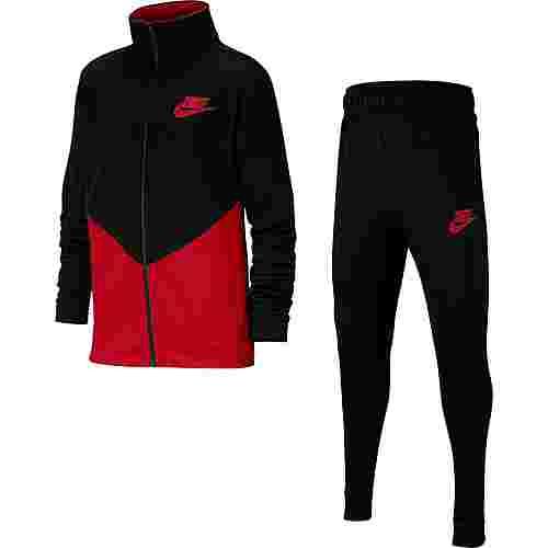 Nike Core Trainingsanzug Kinder black-university-red-university-red