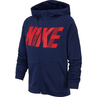 Nike Dry Sweatjacke Kinder midnight-navy-university-red