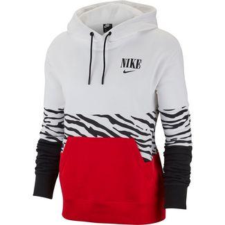 Nike NSW Essntl Hoodie Damen white-university red-black