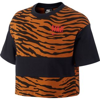 Nike NSW Essntl Croptop Damen black-black-university red