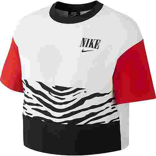 Nike NSW Essntl Croptop Damen white-university red-black
