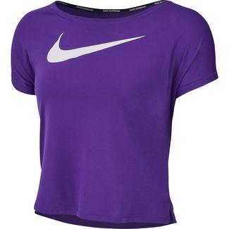 Nike Swoosh Laufshirt Damen court purple-white