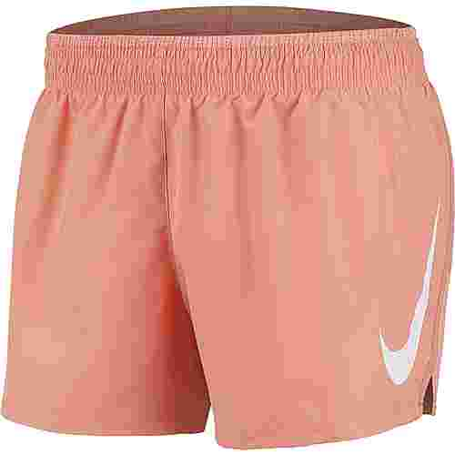 Nike Swoosh Laufshorts Damen pink quartz-white