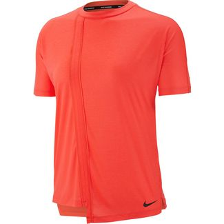 Nike Rebel Laufshirt Damen bright crimson-black
