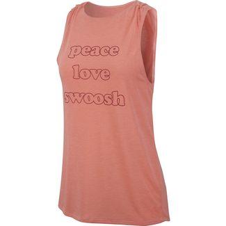 Nike Yoga Funktionstank Damen pink quartz-light redwood