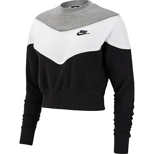 more photos 112dc c0929 Nike Sweatshirt Damen black-dark grey heather-white im Online Shop von  SportScheck kaufen