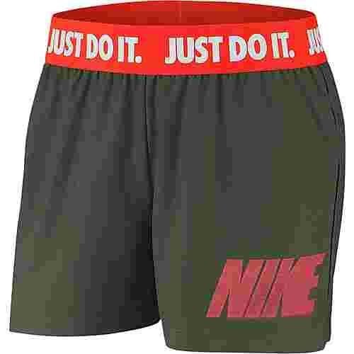 Nike Rebel Funktionsshorts Damen juniper fog-white-bright crimson