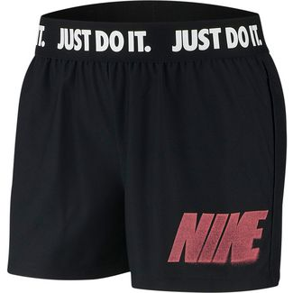 Nike Rebel Funktionsshorts Damen black-white-bright crimson