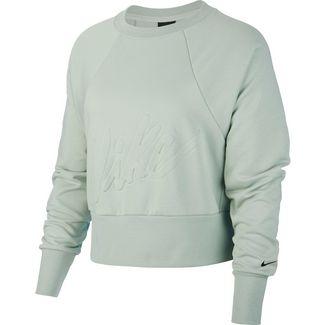 Nike Dry Get Fit Funktionssweatshirt Damen pistachio frost-black