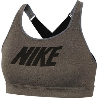 Nike Impact Strappy Sport-BH Damen carbon heather-black