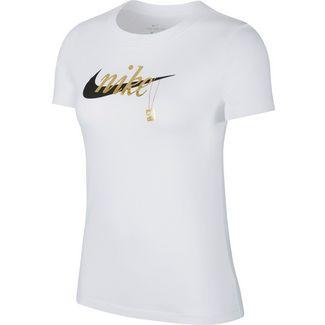 Nike T-Shirt Damen white-black