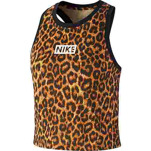 Nike Croptop Damen club gold-black-white