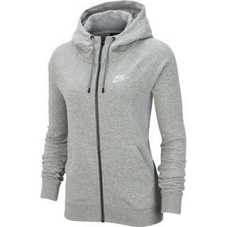 Nike Essential Sweatjacke Damen dark grey heather-white