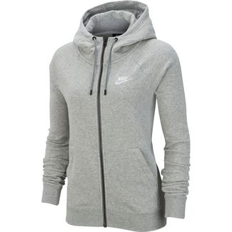 Nike Essential Sweatjacke Damen dark grey heather-white