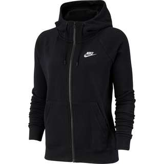 Nike Essential Sweatjacke Damen black-white