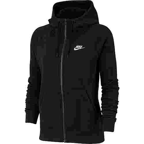 Nike Essential Sweatjacke Damen black-white