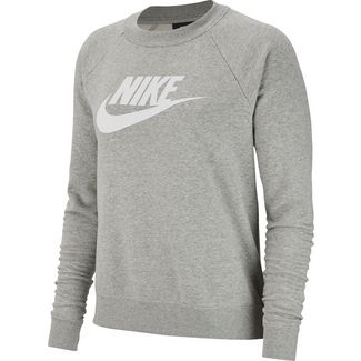 Nike Essential Sweatshirt Damen dark grey heather-white
