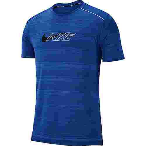 Nike Dryfit Miler Flash Funktionsshirt Herren indigo force-reflective silv