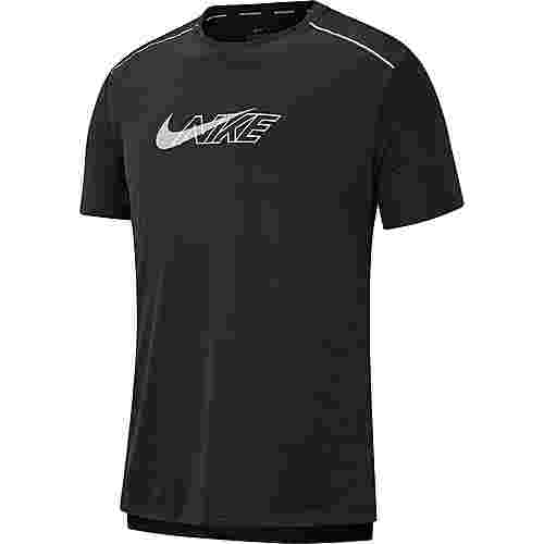 Nike Dryfit Miler Flash Funktionsshirt Herren black-reflective silv