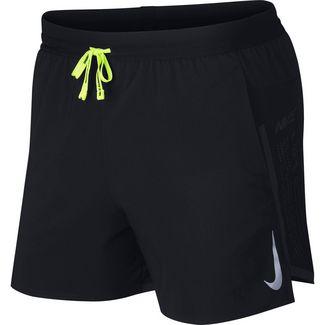 Nike Air Flex Stride Funktionsshorts Herren black-black-volt-reflective silv