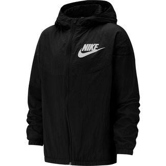 Nike Woven Funktionsjacke Kinder black-black-white
