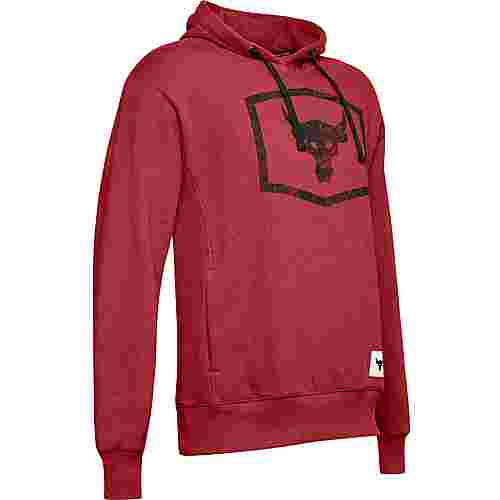 Under Armour Project Rock Warmup Hoodie Herren red