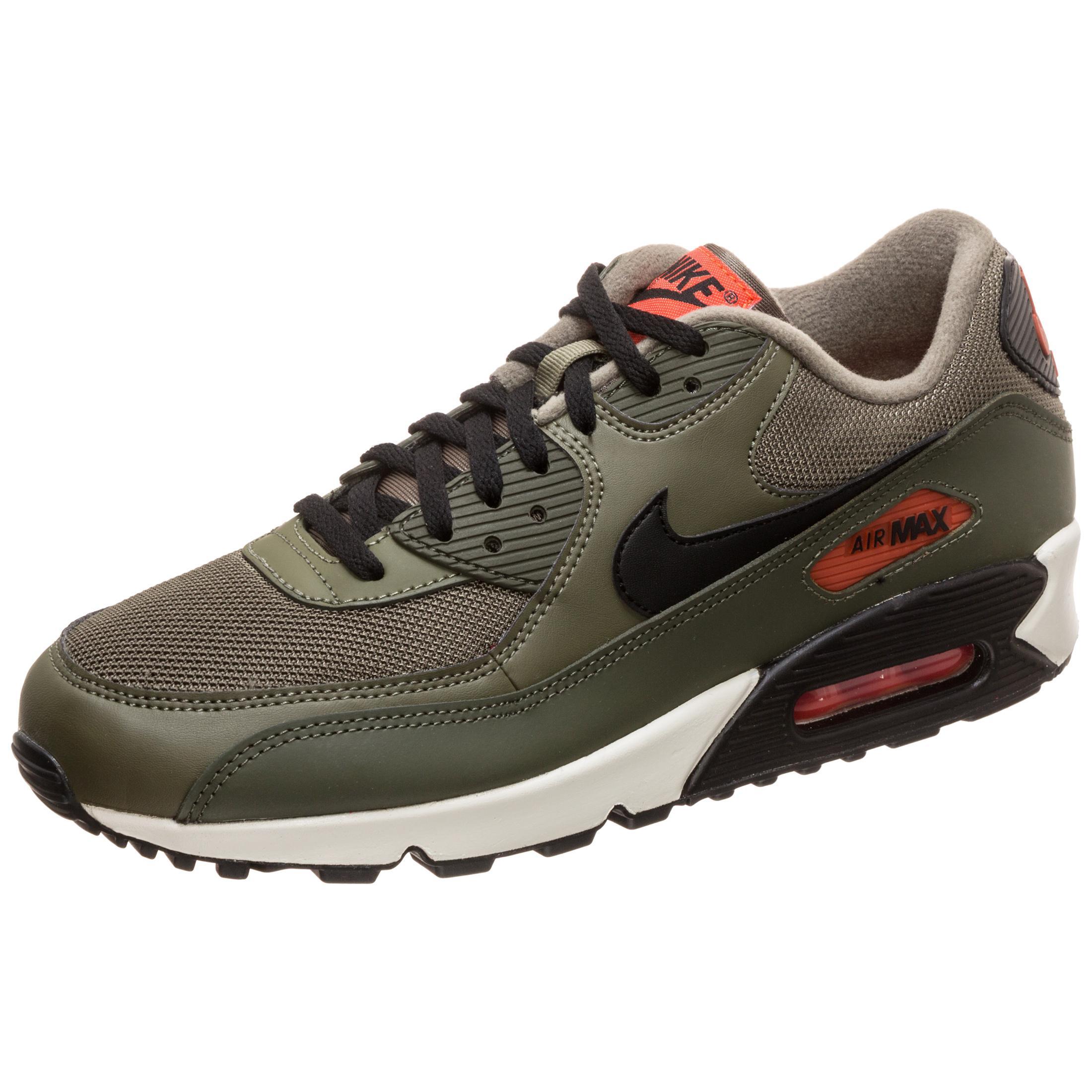 Nike Air Max 90 Essential Sneaker Herren oliv orange im Online Shop von SportScheck kaufen