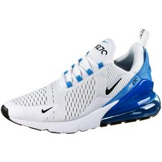 Nike Air Max 270 Sneaker Herren white-black-photo blue-pure platinum