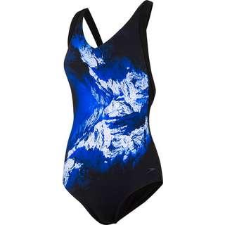 SPEEDO Opalweb Badeanzug Damen mirror glow blk-chroma blu-wht