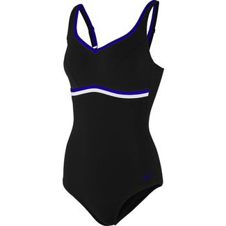 SPEEDO Contourluxe Badeanzug Damen black-chroma blue-white