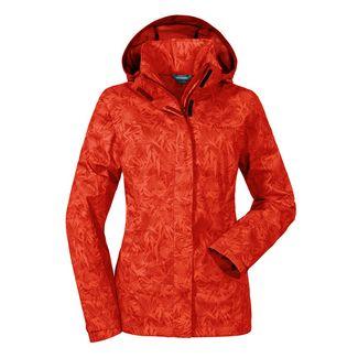 Schöffel Jacket Easy L3 AOP Regenjacke Damen fiery red