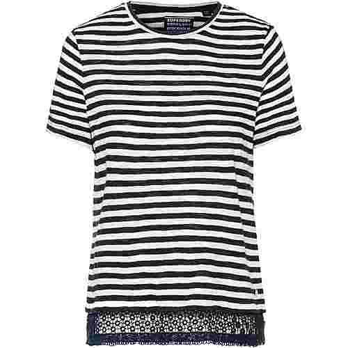 Superdry T-Shirt Damen nautical navy stripe