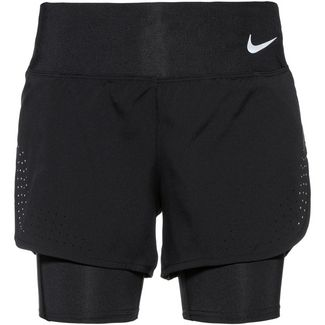 Nike Eclipse Shorts Damen black-reflective silver