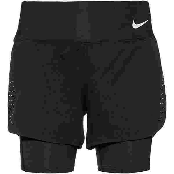 Nike Eclipse Funktionsshorts Damen black-reflective silver