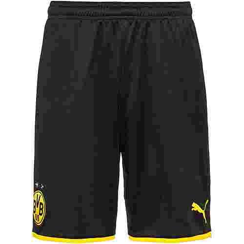PUMA Borussia Dortmund 19/20 Heim Fußballshorts Herren puma black-cyber yellow