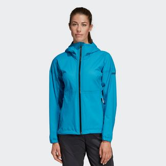 adidas Agravic Three-Layer Jacke Funktionsjacke Damen Shock Cyan