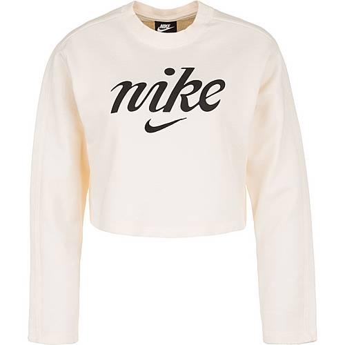 neues Konzept 5bbc2 3c34b Nike Cropped Crew Sweatshirt Damen weiß / schwarz im Online Shop von  SportScheck kaufen