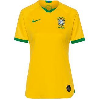 Nike Brasilien 2019 Heim Fußballtrikot Damen midwest gold-lucky green